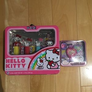 Hello Kitty collector Pez tin and watch